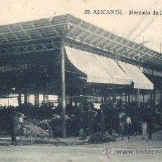 Postales: ALICANTE.MERCADO DE HORTALIZAS. Lote 26505940