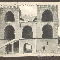 Postales: TARJETA POSTAL VALENCIA - TORRES DE SERRANOS. PARTE POSTERIOR - GRAFOS. MADRID. Lote 20274423