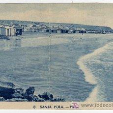Postales: BONITA POSTAL - SANTA POLA (ALICANTE) - VISTA DE LA PLAYA . Lote 18602218