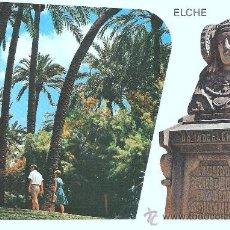 Postales: POSTAL DE ELCHE- ESCALINATA DEL PARQUE Y LA DAMA DE ELCHE. Lote 15001970