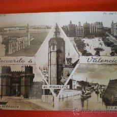 Cartoline: POSTAL RECUERDO DE VALENCIA CIRCULADA AÑOS 50 SELLO 0,50 CTS. Lote 15287922