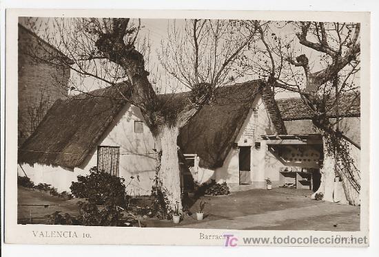 VALENCIA BARRACAS – 10 DURA (Postales - España - Comunidad Valenciana Antigua (hasta 1939))