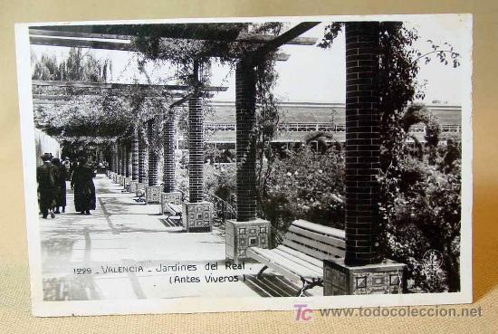 Antigua foto postal valencia 1229 jardines d comprar for Jardines del real valencia