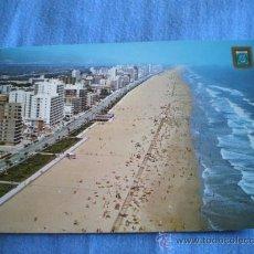 Postales: POSTAL VALENCIA GANDIA VISTA AEREA PLAYA CIRCULADA. Lote 16039982