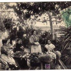 Postales: MAGNIFICA POSTAL - VALENCIA - FLORISTAS PREPARANDO RAMOS . Lote 18884147