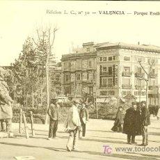 Postales: PS2776 VALENCIA 'PARQUE EMILIO CASTELAR'. ED. L.C. Nº30. PRINCIPOS SIGLO XX. SIN CIRCULAR. Lote 16320033