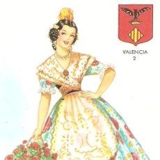Postales: POSTAL TRAJE TIPICO VALENCIA 2.ED.JUAN J.MELERO.1962.SIN CIRCULAR.. Lote 27444771