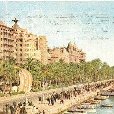 Postales: ALICANTE - EXPLANADA Y PUERTO - EDICIONES JUQUERO - CIRCULADA 1959. Lote 16598071