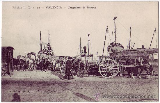 VALENCIA: CARGADORES DE NARANJA. EDICIÓN L.C. NO CIRCULADA (AÑOS 10) (Postales - España - Comunidad Valenciana Antigua (hasta 1939))