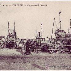 Postales: VALENCIA: CARGADORES DE NARANJA. EDICIÓN L.C. NO CIRCULADA (AÑOS 10). Lote 24804207