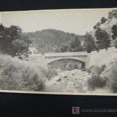 Postales: PUENTE SOBRE EL REGAJO - SINARCAS - VALENCIA - . Lote 17197111