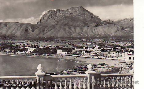 PANORAMA DE BENIDORM. POSTALES, CINE Y MAS EN RASTRILLOPORTOBELLO-COLECCIONISMO (Postales - España - Comunidad Valenciana Antigua (hasta 1939))