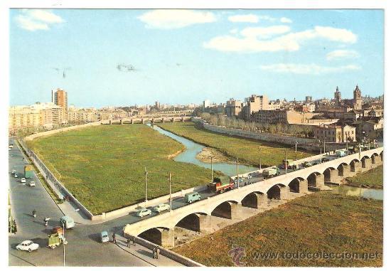 VALENCIA. POSTAL REIVINDICATIVA POR UN NUEVO CAUCE DEL RIO TURIA. VER DORSO (Postales - España - Comunidad Valenciana Moderna (desde 1940))