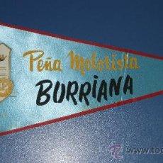 Postales: BANDERIN DE LA PEÑA MOTORISTA BURRIANA CASTELLON MOTO MOTOCICLISMO. Lote 18839607