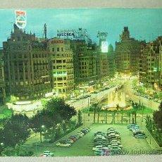 Postales: ANTIGUA POSTAL, FOTO, VALENCIA, PLAZA DEL CAUDILLO, AYUNTAMIENTO, Nº 2043, ARRIBAS, 1968, CIRCULADA. Lote 19242613