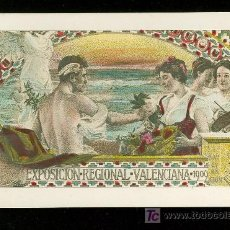 Postales: TARJETA POSTAL DE LA EXPOSICION REGIONAL VALENCIANA. 1909. . Lote 19258705