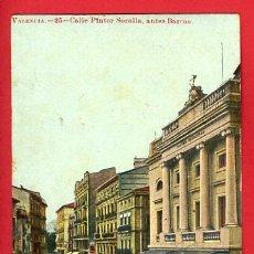 Postales: VALENCIA, CALLE PINTOR SOROLLA, ANTES BARCAS, P39031. Lote 19280384