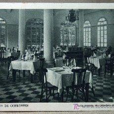 Postales: POSTAL, VALENCIA, HERVIDEROS DE COFRENTES, COMEDOR DEL GRAN HOTEL, DEO. Lote 19964333