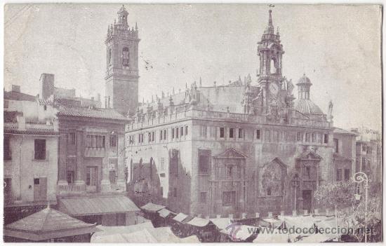 VALENCIA: IGLESIA DE LOS SANTOS JUANES. NO CONSTA EDITOR. REVERSO SIN DIVIDIR. CIRCULADA (C.1900) (Postales - España - Comunidad Valenciana Antigua (hasta 1939))