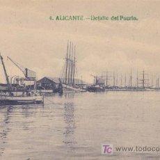 Postales: ALICANTE. DETALLE DEL PUERTO. Lote 20568041