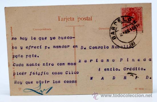 Postales: Postal Valencia nº 8 Puente de Serranos sobre el río Turia Colección E B P Valencia circulada - Foto 2 - 21025663