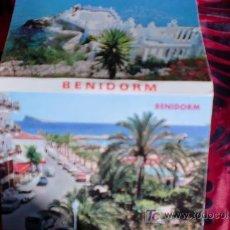 Postales: BENIDORM-12 POSTALES EN CARTERA-10,5X7,5CM-AÑOS 80-. Lote 21134299