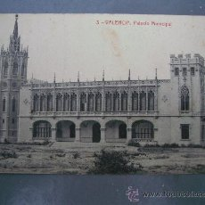 Postales: POSTAL VALENCIA - 3 - PALACIO MUNICIPAL (FOTOTIPIA THOMAS ,PRINCIPIOS XX). Lote 21217180