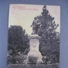 Postales: POSTAL VALENCIA - 94 - MONUMENTO AL PINTOR RIBERA (FOTOTIPIA THOMAS, SIN CIRCULAR). Lote 21217485