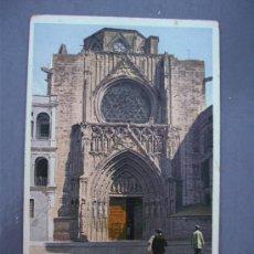 Postales: POSTAL VALENCIA - 47301 - PUERTA DE LA CATEDRAL (SIN CIRCULAR, PRINCIPIOS XX). Lote 21218409