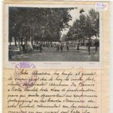 Postales: (12DC)POSTAL FOTOGRAFICA DE UTIEL CON DOCUMENTO-PASEO DE LAS DELICIAS. Lote 21616216