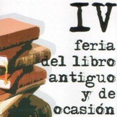 Postales: ALICANTE, POSTAL IV FERIA DEL LIBRO ANTIGUO Y OCASION 2007. Lote 22096011