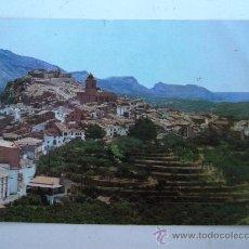 Postales: POSTAL DE POLOP (ALICANTE -VISTA PUEBLO Y MAR AL FONDO (CIRCULADA 1969, PEQ ROTO, ESQUINA DOBLADA). Lote 22233991