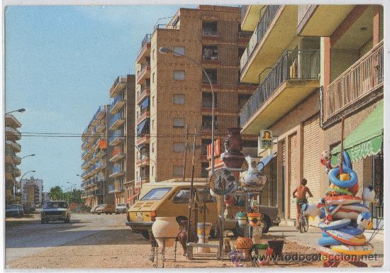 TARJETA POSTAL DE CAMPELLO AVDA. SAN BARTOLOME CERAMICA JARRA MACETA PLATO ALICANTE (Postales - España - Comunidad Valenciana Moderna (desde 1940))