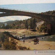 Postales: POSTAL DE MONTANEJOS . CASTELLON. Nº14 - PUENTE Y PLAYA (JDP, 1976, SIN CIRCULAR). Lote 22477161