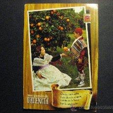 Postales: RECUERDO DE VALENCIA,ENTRE NARANJOS.SIN CIRCULAR.. Lote 22711052