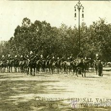 Postales: POSTAL REY ALFONSO XIII EXPOSICION VALENCIA MISA DE CAMPAÑA A CABALLO. Lote 22997250
