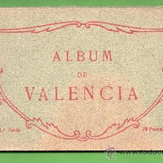 Postales: ALBUN DE VISTAS DE VALENCIA SERIE Nº 1 BIEN CONSEBACION VENTE VISTAS EDICION THOMAS BARCELONA. Lote 25763760