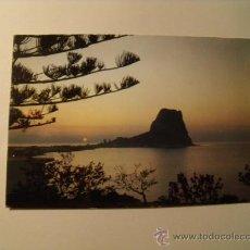 Postales: POSTAL DE CALPE. PÑÓN DE IFACH. VISTA NOCTURNA. S/C. POSTAL 936. Lote 23990220