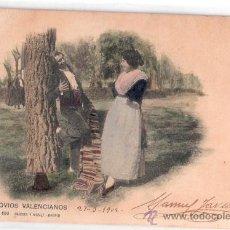 Postales: TARJETA POSTAL DE VALENCIA. NOVIOS VALENCIANOS. Nº 680. HAUSER Y MENET. FOTO A. CANOVAS.. Lote 24109902