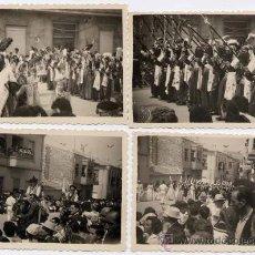 Postales: PETREL (ALICANTE).- CUATRO FOTOGRAFÍAS DE MOROS Y CRISTIANOS DEL AÑO 1959.. Lote 24586865