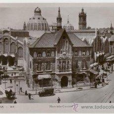 Postales: VALENCIA. MERCADO CENTRAL. AÑOS 1930. . Lote 27283757
