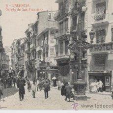 Postales: VALENCIA. BAJADA DE SAN FRANCISCO. AÑOS 1910. FOTOTIPIA THOMAS.. Lote 27283769