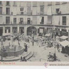 Postales: VALENCIA. PLAZA DEL CID. AÑOS 1910. FOTOTIPIA THOMAS.. Lote 27283770