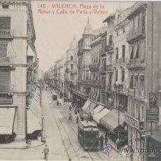 Postales: VALENCIA. PLAZA DE LA REINA Y CALLE DE PERIS Y VALERO. AÑOS 1910. FOTOTIPIA THOMAS.. Lote 27337941