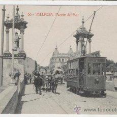 Postales: VALENCIA. PUENTE DEL MAR. AÑOS 1910. FOTOTIPIA THOMAS. . Lote 27337942