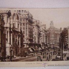 Postales: VALENCIA. AVENIDA DE BLASCO IBÁÑEZ. CIRCULADA, ESCRITA Y SELLO DE 15 CTS DE LA 2ª REP (21-3-36). Lote 27470615