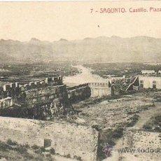 Postales: TARJETA POSTAL ESPAÑA ANTIGUA 1.939, VALENCIA, Nº 7, SAGUNTO, CASTILLO, PLAZA DEL 2 DE MAYO. Lote 24770540