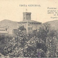 Postales: PS1225 VALENCIA 'CASTILLO DE BENISANÓ - VISTA GENERAL'. NÚM. 1. ESCRITA AL DORSO Y FECHADA EN 1909. Lote 24891986
