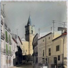 Postales: VILLENA (ALICANTE).- IGLESIA Y TORRE DE SANTA MARIA. Lote 25710975