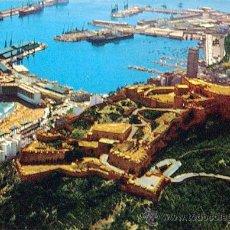 Postales: ALICANTE, POSTAL CASTILLO DE SANTA BARBARA Y PUERTO 1973. Lote 87176531